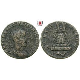 Römische Provinzialprägungen, Kommagene, Zeugma, Philippus II., Bronze, ss