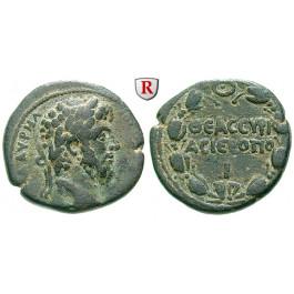 Römische Provinzialprägungen, Kyrrhestika, Hieropolis (Bambyke), Lucius Verus, Bronze, ss