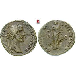 Römische Kaiserzeit, Antoninus Pius, Sesterz, ss