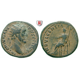 Römische Kaiserzeit, Antoninus Pius, Dupondius 153-154, ss/f.ss