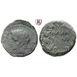 Römische Provinzialprägungen, Spanien-Hispania Ulterior, Julia Traducta, Augustus, Bronze 12-2 v.Chr., f.ss/s-ss