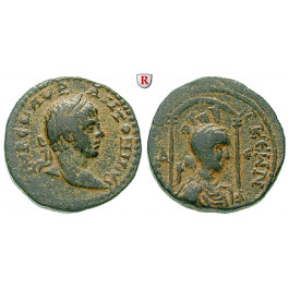 Römische Provinzialprägungen, Seleukis und Pieria, Laodikeia ad mare, Elagabal, Bronze, ss