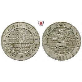 Belgien, Königreich, Leopold I., 5 Centimes 1862, vz