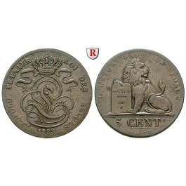 Belgien, Königreich, Leopold I., 5 Centimes 1833, ss+