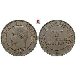 Frankreich, Napoleon III., 10 Centimes 1853, vz