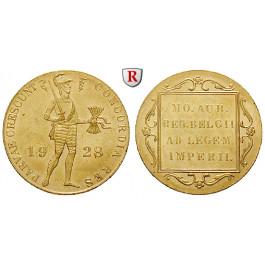Niederlande, Königreich, Wilhelmina I., Dukat 1928, 3,43 g fein, vz+