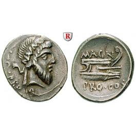 Römische Republik, Gnaeus Pompeius (der Große), Denar 45 v.Chr., ss/ss+