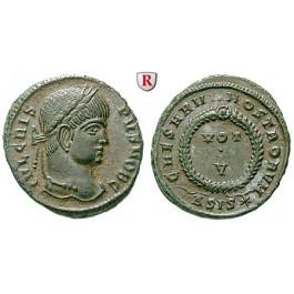 Römische Kaiserzeit, Crispus, Caesar, Follis 320-321, vz