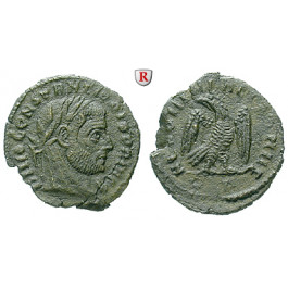 Römische Kaiserzeit, Constantius I., Follis 317-318, ss+/vz