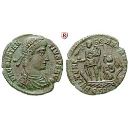 Römische Kaiserzeit, Constantius II., Follis 348-350, ss-vz
