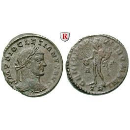 Römische Kaiserzeit, Diocletianus, Follis 296-297, ss-vz/ss