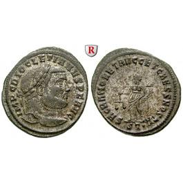 Römische Kaiserzeit, Diocletianus, Follis 300-303, f.vz