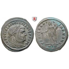 Römische Kaiserzeit, Diocletianus, Follis 297-298, ss-vz