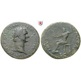 Römische Kaiserzeit, Domitianus, Sesterz 88-89, ss/f.ss