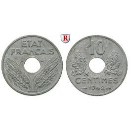 Frankreich, Vichy - Regierung, 10 Centimes 1942, f.st