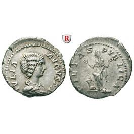 Römische Kaiserzeit, Julia Domna, Frau des Septimius Severus, Denar 201, ss-vz