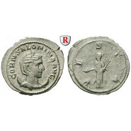 Römische Kaiserzeit, Salonina, Frau des Gallienus, Antoninian um 268, vz