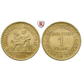 Frankreich, III. Republik, Franc 1923, vz-st