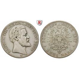 Deutsches Kaiserreich, Reuss-Greiz, Heinrich XXII., 2 Mark 1877, B, ss, J. 116