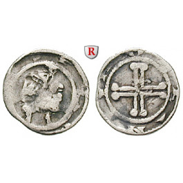 Niederlande, Holland, Florenz IV. und Wilhelm II., Denar 1222-1247, ss