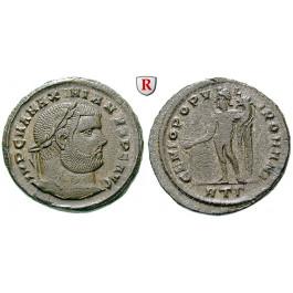 Römische Kaiserzeit, Maximianus Herculius, Follis 296-297, vz