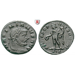 Römische Kaiserzeit, Maximianus Herculius, Viertelfollis 305-306, ss/ss-vz