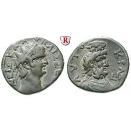 Römische Provinzialprägungen, Ägypten, Alexandria, Nero, Tetradrachme Jahr 11 = 64-65, ss+