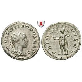 Römische Kaiserzeit, Philippus II., Caesar, Antoninian, vz
