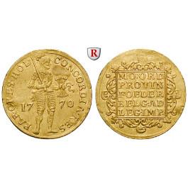 Niederlande, Holland, Dukat 1770, 3,47 g fein, ss-vz