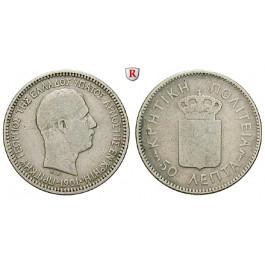 Kreta, Georg, 50 Lepta 1901, s+
