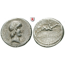 Römische Republik, L. Piso Frugi, Denar 90 v.Chr., ss