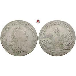 Brandenburg-Preussen, Königreich Preussen, Friedrich II., Reichstaler 1784, ss