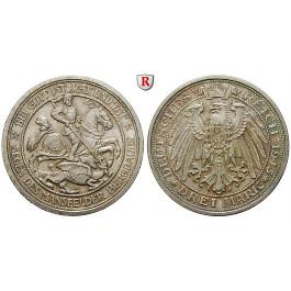 Deutsches Kaiserreich, Preussen, Wilhelm II., 3 Mark 1915, Mansfeld, A, vz-st, J. 115