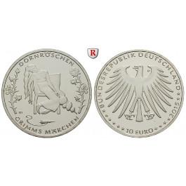"""Bundesrepublik Deutschland, 10 Euro 2015, Grimms Märchen """"Dornröschen"""", D, bfr."""