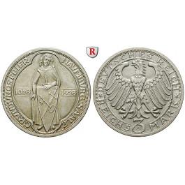 Weimarer Republik, 3 Reichsmark 1928, Naumburg, A, vz/vz-st, J. 333