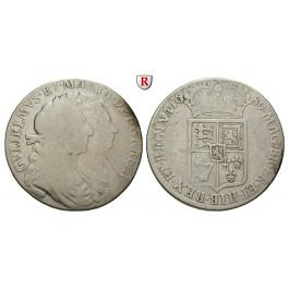 Grossbritannien, William und Mary, Halfcrown 1689, s-ss