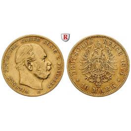 Deutsches Kaiserreich, Preussen, Wilhelm I., 10 Mark 1874, B, ss, J. 245