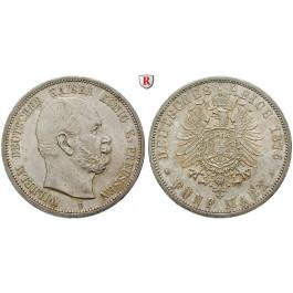 Deutsches Kaiserreich, Preussen, Wilhelm I., 5 Mark 1876, B, vz-st, J. 97