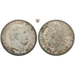 Deutsches Kaiserreich, Preussen, Wilhelm I., 5 Mark 1876, B, vz/vz-st, J. 97