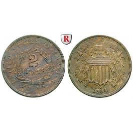 USA, 2 Cents 1864, vz-st