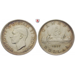 Kanada, George VI., Dollar 1937, f.vz