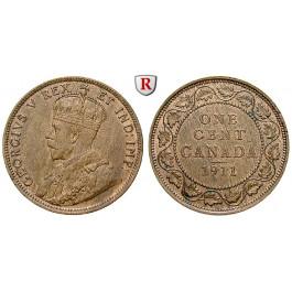 Kanada, George V., Cent 1911, vz-st