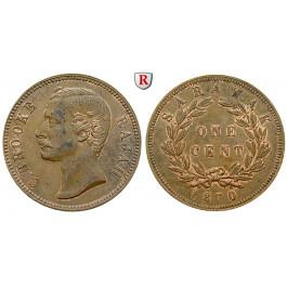 Sarawak, Charles J. Brooke, Cent 1870, vz