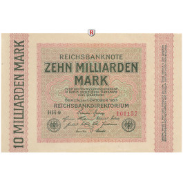 Inflation 1919-1924, 10 Md Mark 01.10.1923, I, Rb. 114f