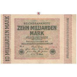 Inflation 1919-1924, 10 Md Mark 01.10.1923, I-, Rb. 114d