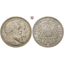 Deutsches Kaiserreich, Baden, Friedrich I., 5 Mark 1906, Goldene Hochzeit, G, vz-st, J. 35