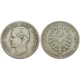 Deutsches Kaiserreich, Bayern, Otto, 2 Mark 1888, D, f.ss, J. 43