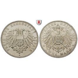 Deutsches Kaiserreich, Lübeck, 2 Mark 1901, A, f.vz, J. 80