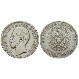 Deutsches Kaiserreich, Reuss-Schleiz, Heinrich XIV., 2 Mark 1884, A, ss, J. 120