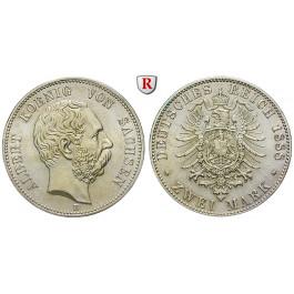 Deutsches Kaiserreich, Sachsen, Albert, 2 Mark 1888, E, vz, J. 121